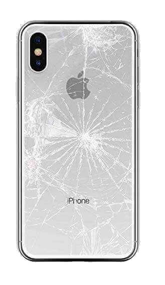 разбито заднее стекло на айфон