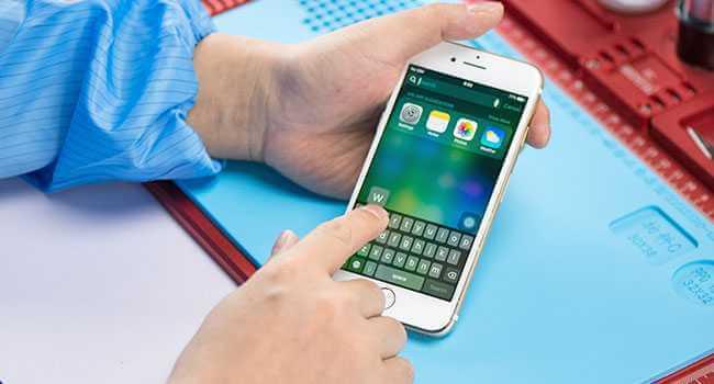 Не работает сенсор iPhone 7