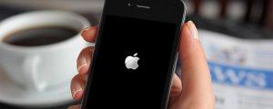Айфон завис на яблоке